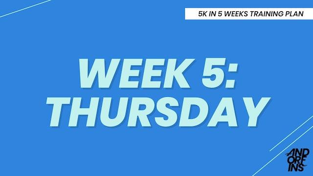 WEEK 5: THURSDAY