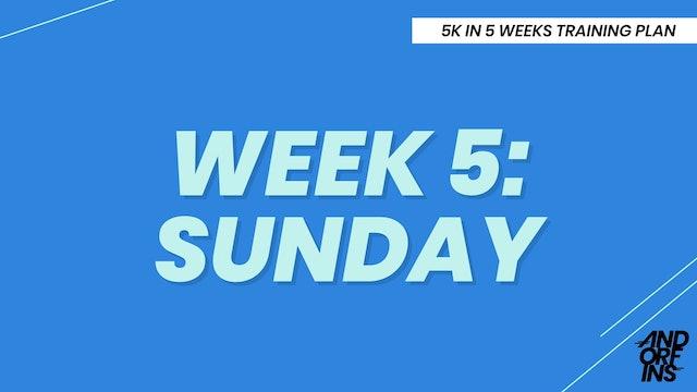 WEEK 5: SUNDAY