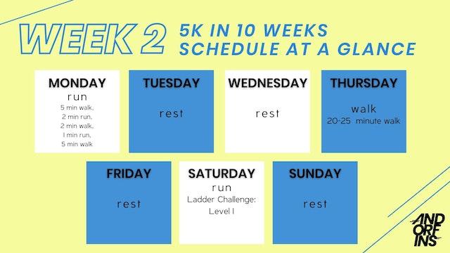 5k in 10 weeks: WEEK 2