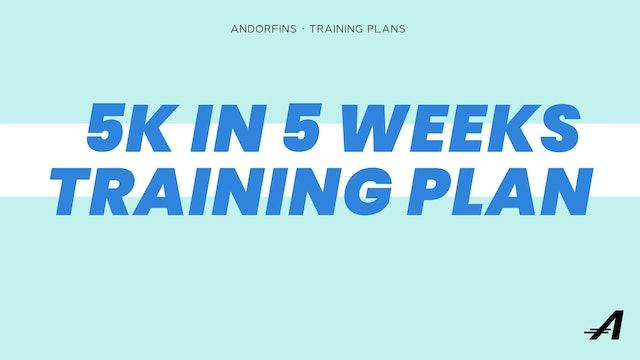 5K in 5 Weeks Training Plan