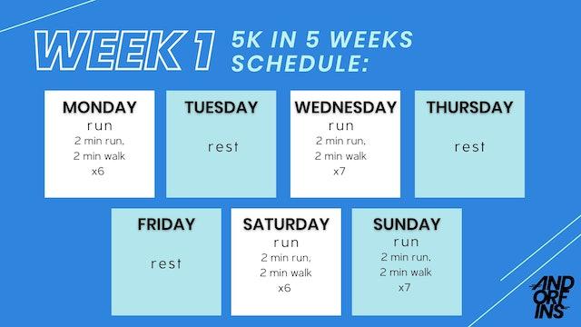 5k in 5 weeks: WEEK 1