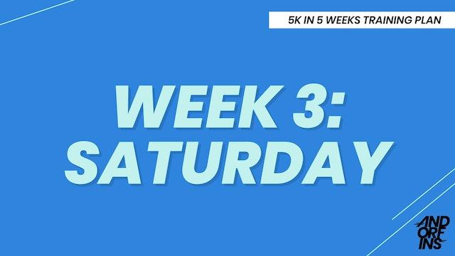 WEEK 3: SATURDAY