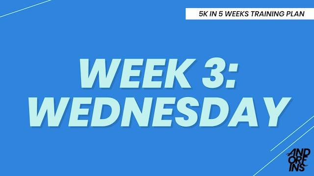 WEEK 3: WEDNESDAY