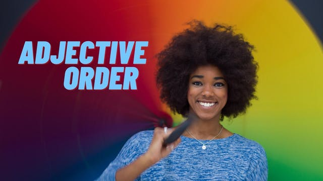 Adjective order   Elementary grammar