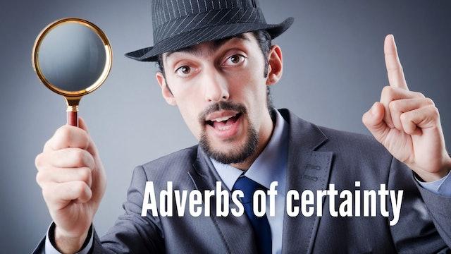 Adverbs of certainty   Grammar