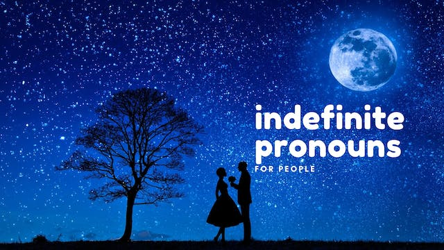 Indefinite pronouns for people   Grammar
