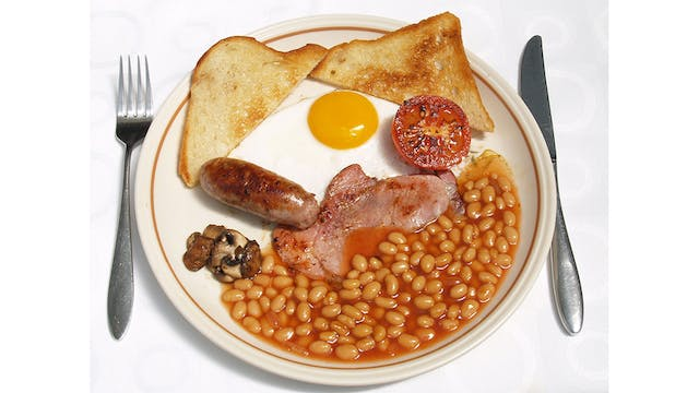 Having a fry-up