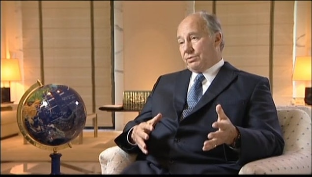 Interview (long): the Aga Khan