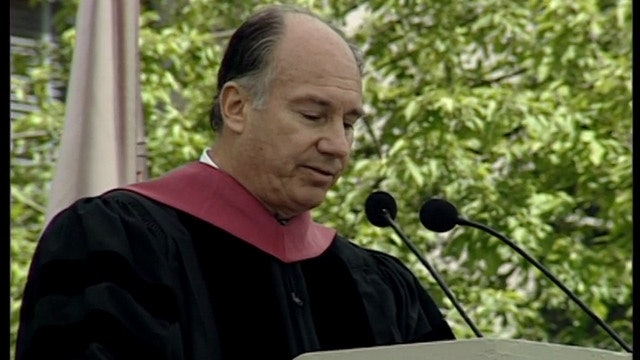 The Aga Khan speaking at MIT Commencement