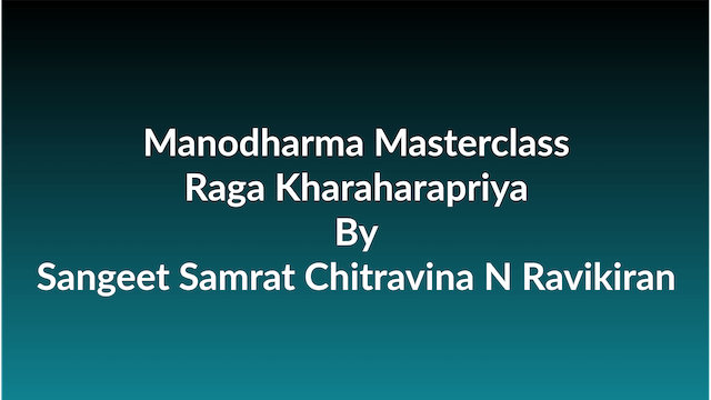 Learn how to Sing Raga Kharaharapriya