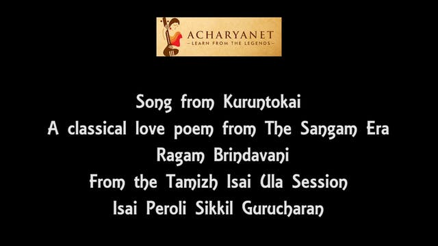 Song from Kuruntokai - Brindavani