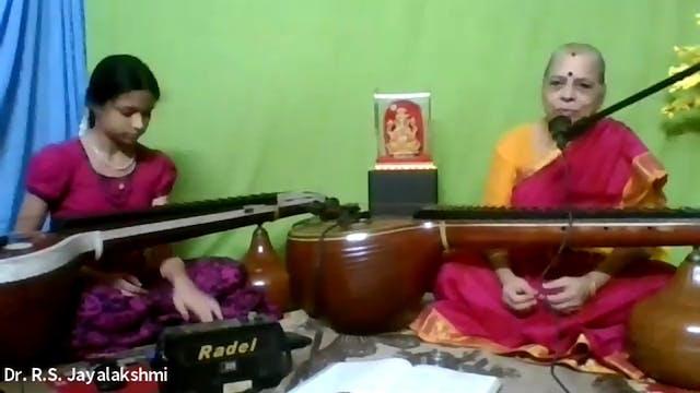 Dr R S Jayalakshmi Tanam techniques