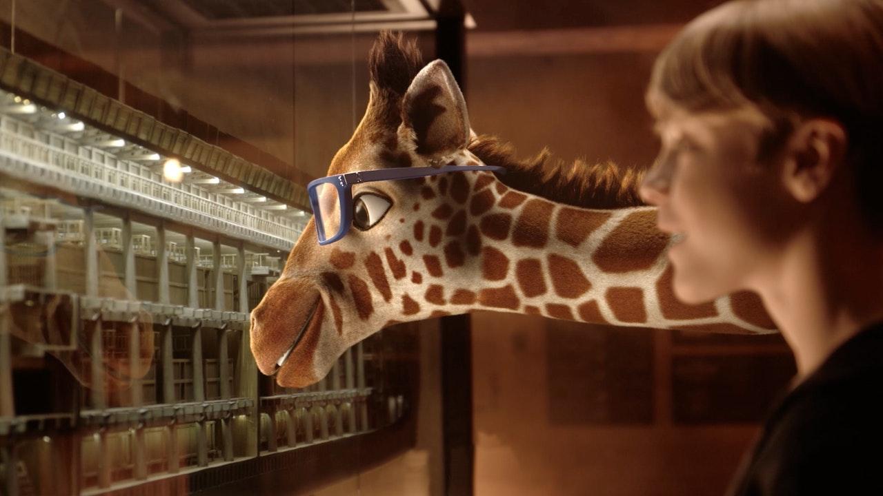 The Giraffe Family at the Ark Encounter