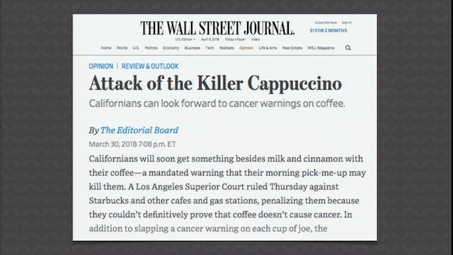 Killer Cappuccino and Other News