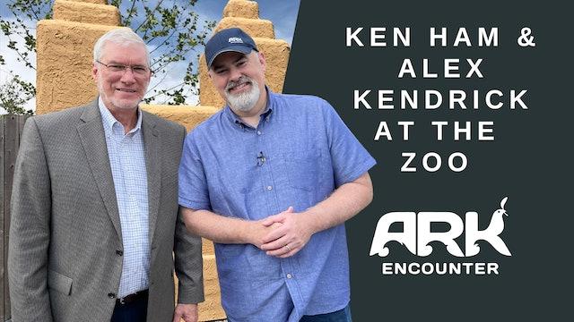 Alex Kendrick & Ken Ham at Ararat Ridge Zoo
