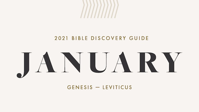 January, 2021 Bible Discovery Guide: Genesis - Leviticus