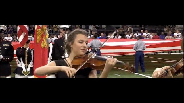 "String trio's moving rendition of our ""National Anthem"" at NFL game!"
