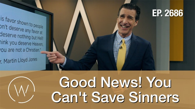 Good News! You Can't Save Sinners