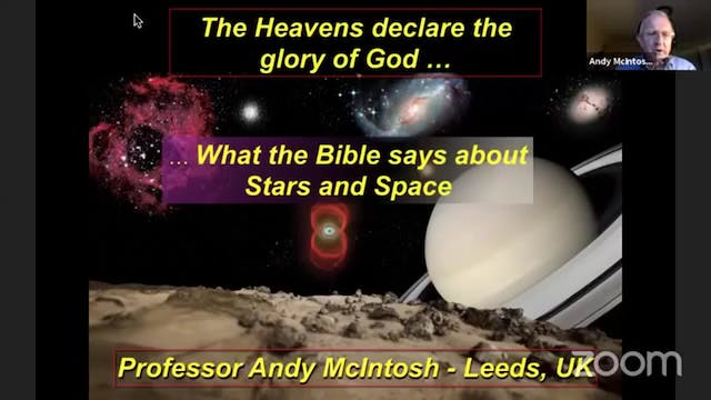 The Heavens Declare the Glory of God ...