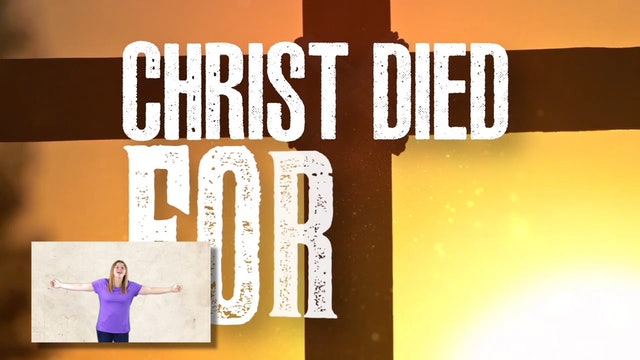 Christ Died for Us Picture