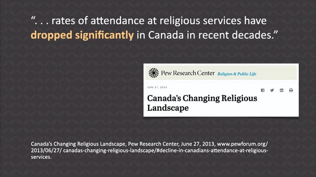 Canada: Why the Catastrophic Spiritual and Moral Change?