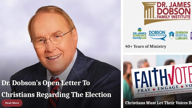 Dr. Dobson's Advice: Christians Must Take Voting Seriously!