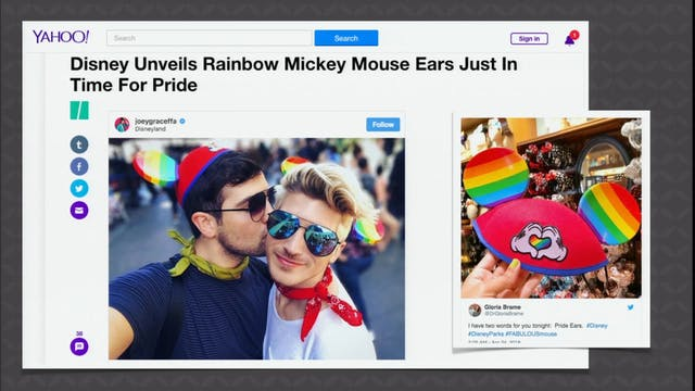 4/30 Disney Gay Pride and Rainbow Mic...