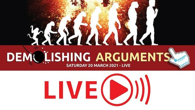 Demolishing Arguments Livestream