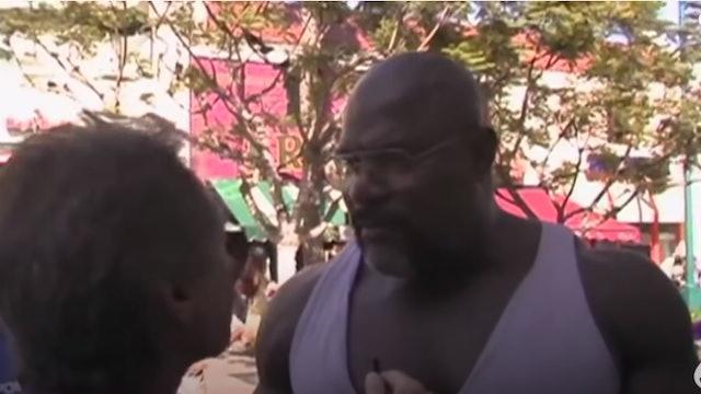 Tension Between Christian and HUGE Bodybuilder