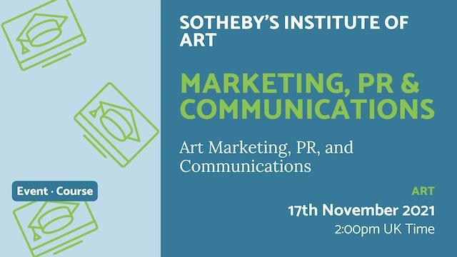 21.11.17 (Wed Nov 17th)   Marketing, PR & Communications