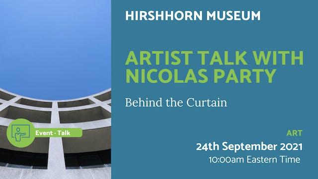 21.09.24 (Fri Sep 24th)   Artist Talk...