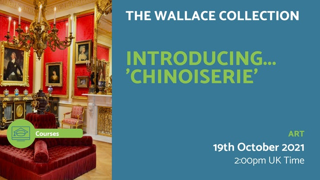 21.10.19 (Tue Oct 19th)   Introducing... 'Chinoiserie'