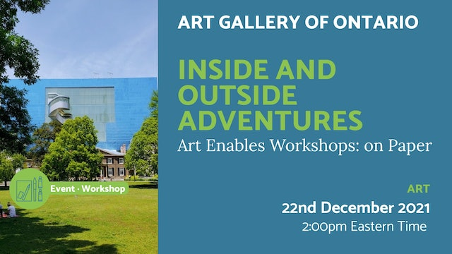 21.12.22 (Wed Dec 22nd) | Inside and Outside Adventures
