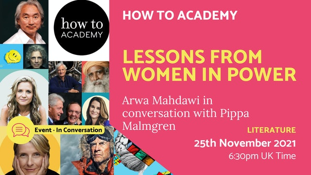 21.11.25 (Thu Nov 25th) | Lessons from Women in Power