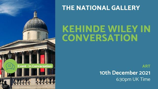 21.12.10 (Fri Dec 10th) | Kehinde Wiley in conversation