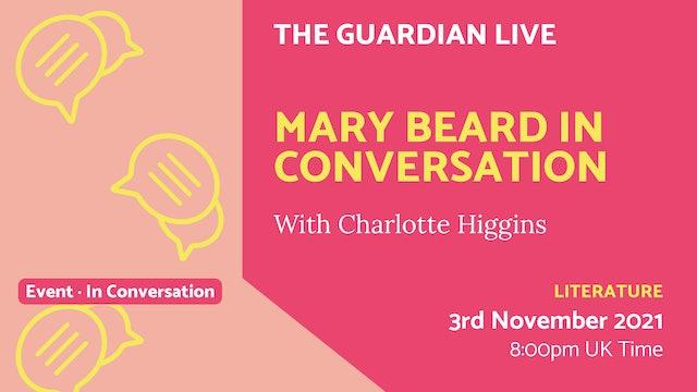 21.11.03 (Wed Nov 3rd) | Mary Beard in Conversation