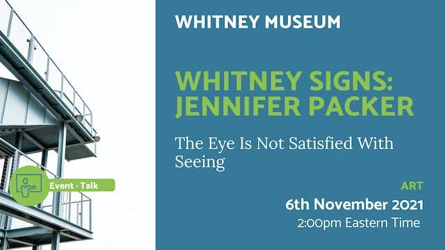 21.11.06 (Sat Nov 6th) | Whitney Sign...