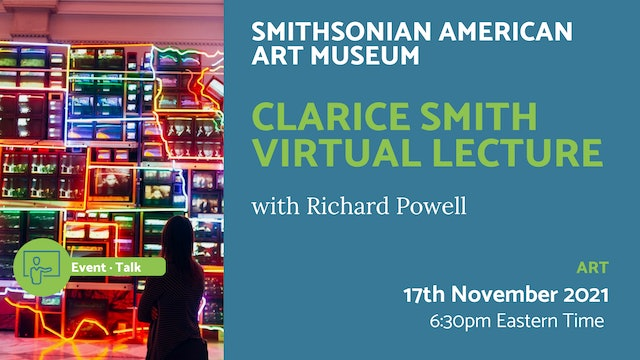 21.11.17 (Wed Nov 17th) | Clarice Smith Virtual Lecture