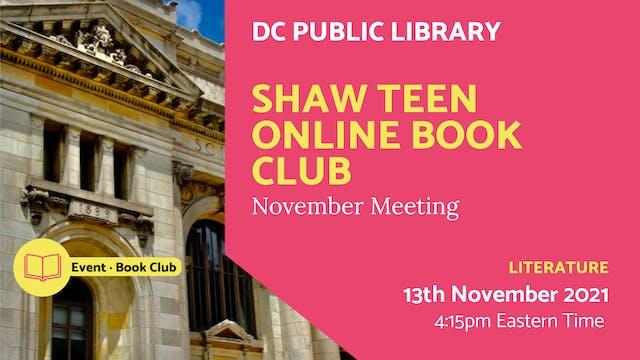 21.11.13 (Sat Nov 13th) | Shaw Teen O...