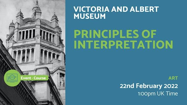 22.02.22 (Tue Feb 22nd) | Principles of Interpretation