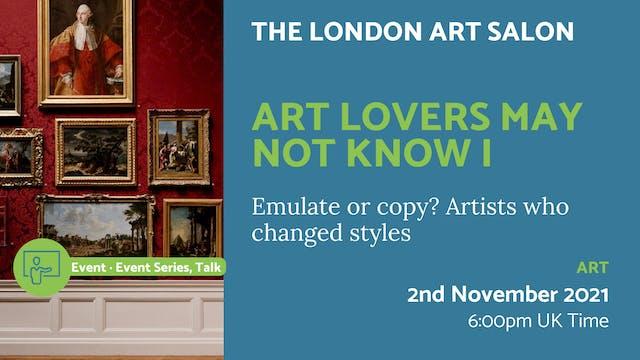 21.11.02 (Tue Nov 2nd)   Art Lovers M...