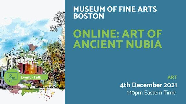 21.12.04 (Sat Dec 4th) | Online: Art of Ancient Nubia