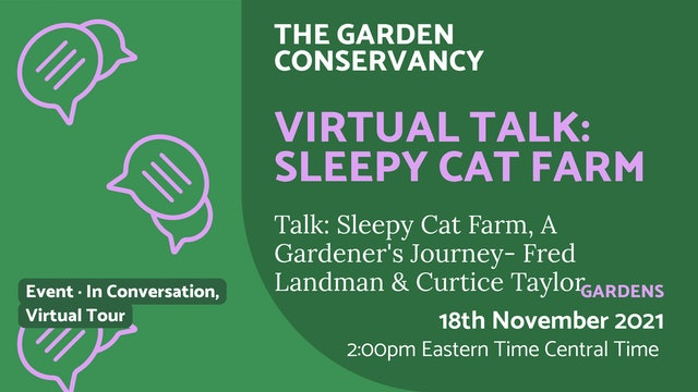 21.11.18 (Thu Nov 18th)   Virtual Talk: Sleepy Cat Farm