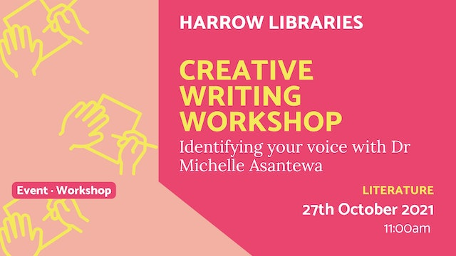 21.10.27 (Wed Oct 27th) | Creative Writing Workshop