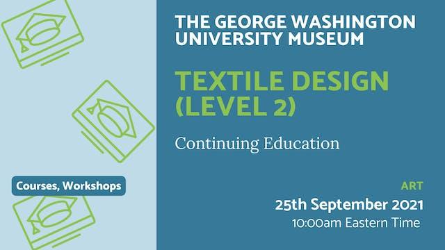 21.09.25 (Sat Sep 25th) | Textile Des...