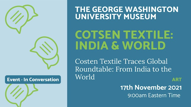 21.11.17 (Wed Nov 17th) | Cotsen Textile: India & World