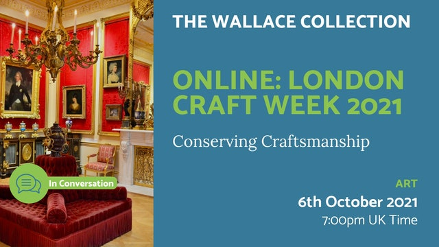 21.10.06 (Wed Oct 6th)   Online: London Craft Week 2021
