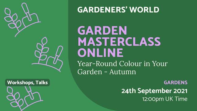 21.09.24 (Fri Sep 24th) | Garden Mast...