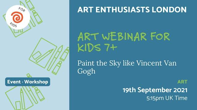 21.09.19 (Sun Sep 19th) | Art Webinar for Kids 7+