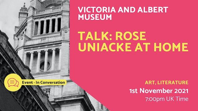 21.11.01 (Mon Nov 1st)   Talk: Rose Uniacke at home